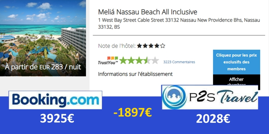 Réduction hôtel All inclusive