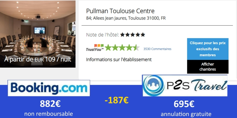 Réduction hotel Pullman Toulouse